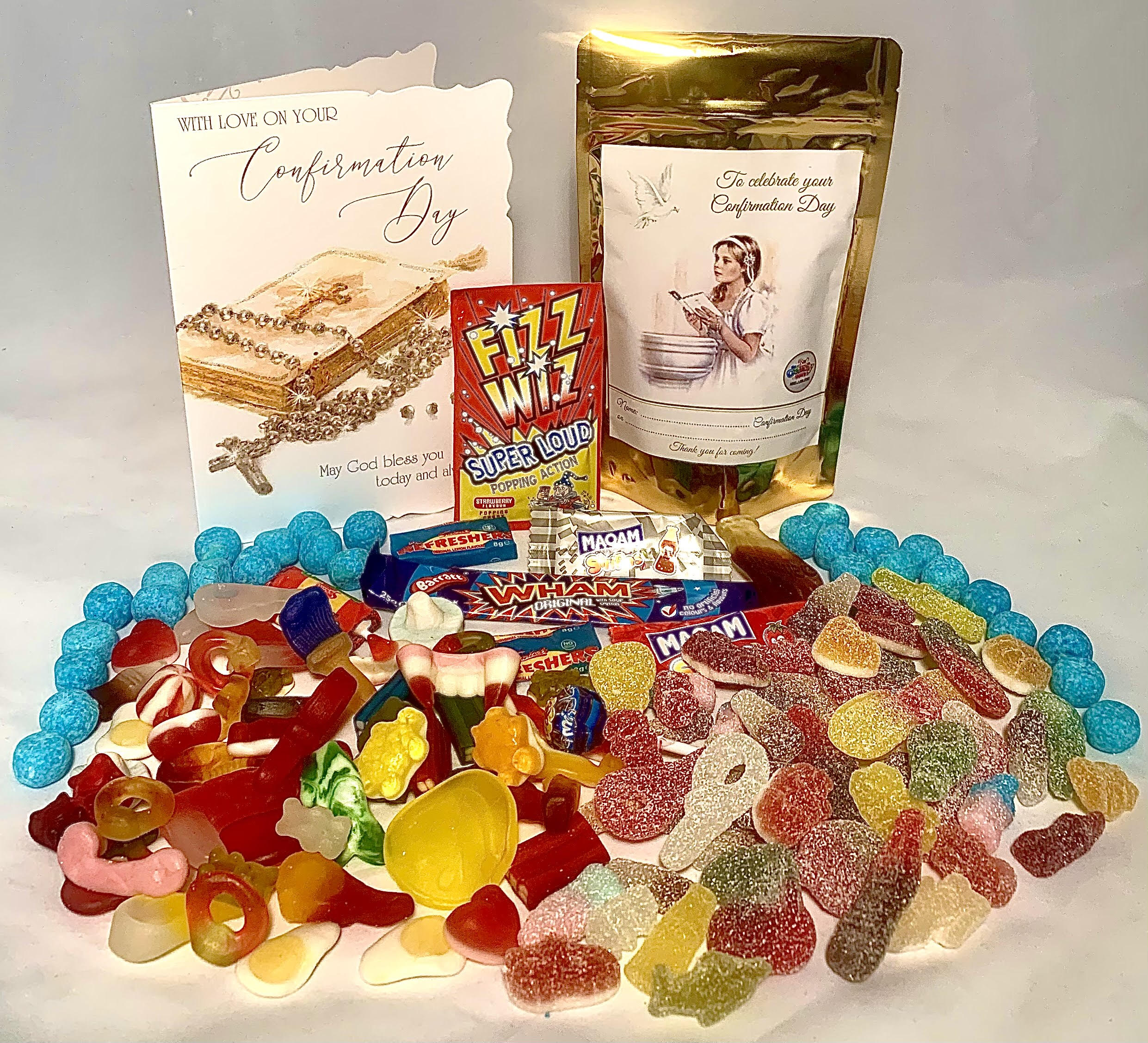 Confirmation personalised treat bags